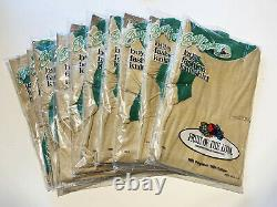 10 Vintage 70s Fruit of the Loom T Shirt NOS Youth Med Tan Lot Kids Dead Stock