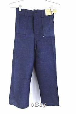 1930s VTG H. W. Carter Sanforized Cotton Jeans NOS Dead Stock Boys 10 Cone Denim