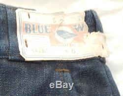 1940's-1950's NOS / Dead Stock Blue Wing Jeans
