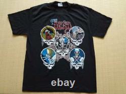 1970-1980's Grateful Dead Vintage Rock T-shirt Original Genuine Black OMEGA L