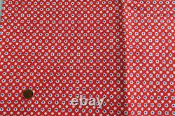 1970s VINTAGE Primstyle Woolworth SMALL Print COTTON FABRIC RWB DEAD STOCK