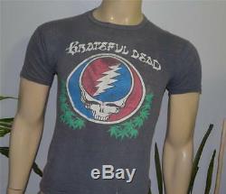 1976 GRATEFUL DEAD vtg rock concert tour t-shirt (S) Rare 1970's Jerry Garcia