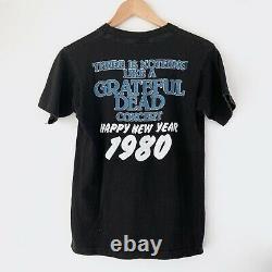 1979 Grateful Dead Happy New Year 1980 Vintage Tour Concert Shirt 70s 1970s