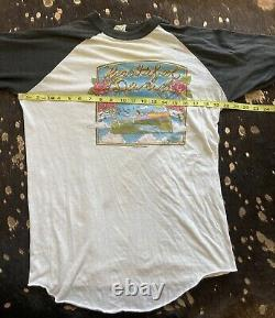 1982 Grateful Dead Shirt L RAGLAN GDP FALL TOUR VINTAGE RARE HTF