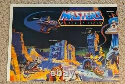 1986 Dead Stock Original Masters Of The Universe Poster Vintage Eternia He-Man