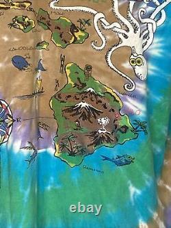 1990 VINTAGE JERRY GARCIA BAND HAWAII TOUR T-SHIRT MEN SZ XL GRATEFUL DEAD 90s