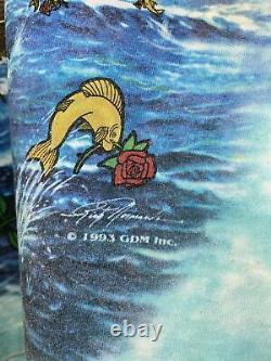 1993 Grateful Dead Ship of Fools Tie Dye T Shirt Liquid Blue L