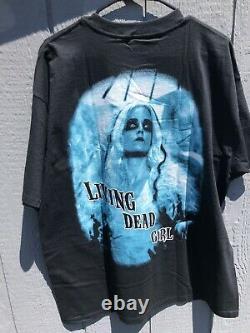 1998 Rob Zombie Vintage Hellbilly Deluxe Era Living Dead Girl PROMO T shirt