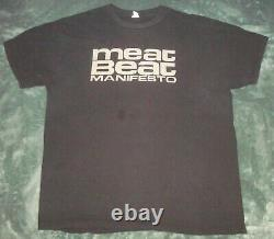 2 Vtg Meat Beat Manifesto T Shirts XL 2xl Long Sleeve Black 2 Sided Techno Dub