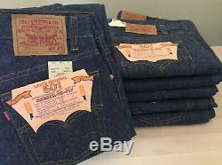 6 Pair! Levi's 1987 Vintage 501 Dead Stock NOS Made In USA Denim No Reline/Big E