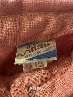 ADINI LONG SLEEVE TENT DRESS RN #53395 Solid PEACH WOVEN KAFTAN DEAD STOCK OS