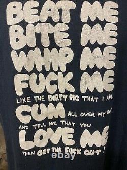 Beat Me Bite Me Whip Me 80s Vintage T-Shirt Adam Ant Joan Jett Sex Punk Vivianne