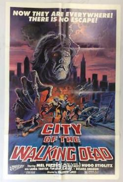 City of the Living Dead Original Vintage 1980 One Sheet Horror Movie Poster