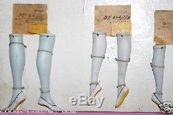 Complete antique Goebel sample card with half doll legs DROP DEAD piece TMK1
