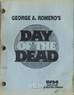 DAY OF THE DEAD (1985) Vntg orig 3rd vers, 2nd draft film script / GEORGE ROMERO