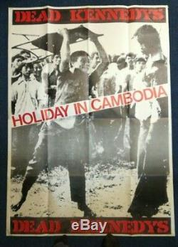Dead Kennedys Holiday in Cambodia HUGE POSTER 53.5 38 vintage punk art RARE