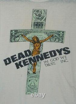 Dead Kennedys In God We Trust Inc. Shirt punk rock vintage 1984 original