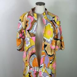 Dead Stock VTG 60s Fashions by Marilyn New York Bright Psychedelic Hostess Dress