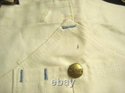 Dead Stock Vintage 60s SEARS Overall Pants Canvas Union Made in USA Sz 38x30