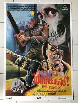 Evil Dead II 2 original Thai POSTER cult vintage movie 1987 artwork Sam Raimi