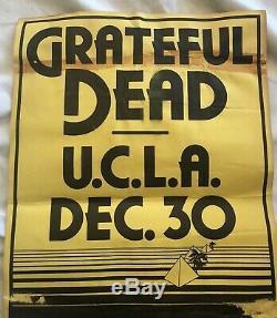 GRATEFUL DEAD Pauley Pavilion UCLA Dec 30 1978 Cardboard CONCERT POSTER