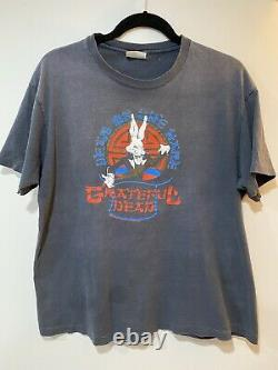 GRATEFUL DEAD VINTAGE New Years Eve 1987 87 Shirt XL Year Of The Rabbit