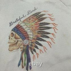 GRATEFUL DEAD Vtg Spring 1990 Album Concert White Sweatshirt, Mens LARGE/XL