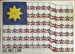 Grateful Dead Dead White & Blue 1991 Vintage Poster 23 X 32