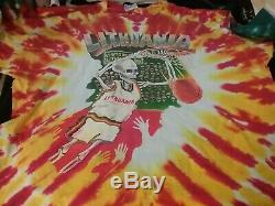 Grateful Dead Lithuania 1992 Barcelona Tyedye Shirt XL Nmint Rare Clean Htf Vtg