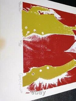 Grateful Dead R Hunter 80 Screen Litho Poster Nmint G Kofoid Sign #22/28 Vtg Htf