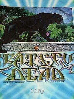 Grateful Dead Shirt T Shirt Vintage 1989 Rainforest Panther Tie Dye Mikio L