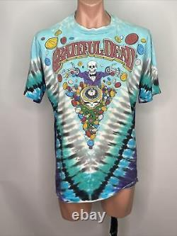 Grateful Dead Shirt T Shirt Vintage 1991 Las Vegas Casino Poker Chips Dice XL