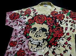 Grateful Dead Shirt T Shirt Vintage 1992 Roses Bertha Skeleton Tie Dye GDM XL