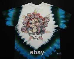 Grateful Dead Shirt T Shirt Vintage 1994 Hockey Stick Puck Gloves NHL Tie Dye XL