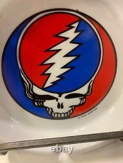Grateful Dead vintage 1976 GDM steal your face ashtray 70s rock porcelain rare