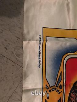 Grateful Dead vintage 1983 silk flag rare collectors item