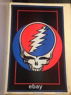 Grayeful Dead Skull Logo Classic Original Vintage Blacklight Poster