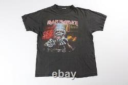 IRON MAIDEN Vintage T-Shirt 1990s Real Dead One Black Tee L Large Metal Band