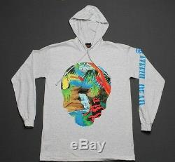 L NOS vtg 90s 1993 GRATEFUL DEAD hoodie L/S t shirt BROCKUM
