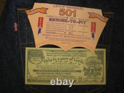 Levi's 501xx W34 L36 USA made original dead stock 1997 vintage withTracking#F/S