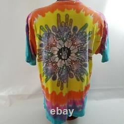 Liquid Blue Men XL Tie-Dye 1994 Jerry Garcia Grateful Dead T Shirt Pyramid Hand