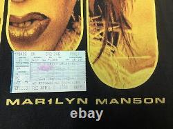 Marilyn Manson VINTAGE T Shirt ROCK IS DEAD 90s Goth Rock Winterland XL 1999