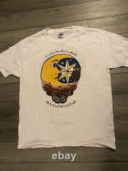 Mens Vintage Grateful Dead GDB JGB Skull Bear Graphic Single Stitch Shirt Sz Xl