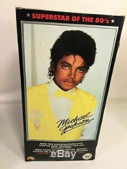 Michael Jackson Action Figure Posable Doll Beat It Outfit Vintage 1984 LJN INC