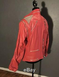 Michael Jackson J. Park Beat It Jacket Leather Vintage Original 1980s Thriller