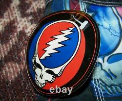 NEW Vintage GRATEFUL DEAD STEAL YOUR FACE Dragonfly Swim Surf Board Shorts Sz 34