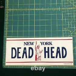 NEW Vintage Grateful Dead New York License Plate Dead Head Bumper Sticker Decal
