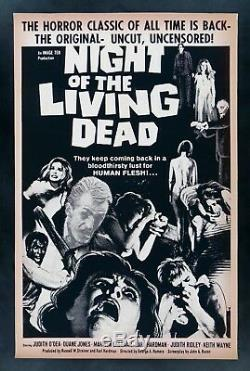 NIGHT OF THE LIVING DEAD CineMasterpieces ZOMBIE VINTAGE MOVIE POSTER 1978R