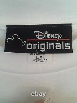 NWT! Dead Stock VTG Disney Originals Mickey Minnie Pluto Embroidered T-shirt XL