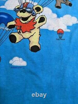 NWT Vintage Grateful Dead Parachute Bears T-Shirt 2000 Liquid Blue Size X-Large